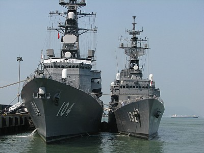 Hai Tàu Hải Quân Nhật Bản Cập Cảng Tiên Sa, Đà Nẵng