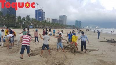 Hình ảnh đẹp – Đà Nẵng dọn dẹp lượng rác ''khủng'' trên bờ biển