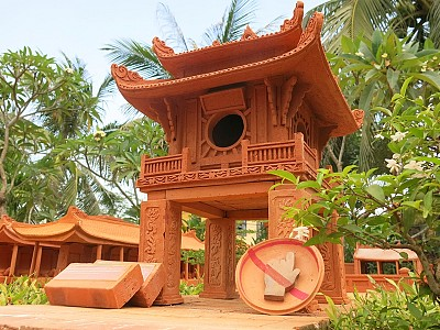 Kỳ quan thế giới thu nhỏ ở công viên đất nung Thanh Hà