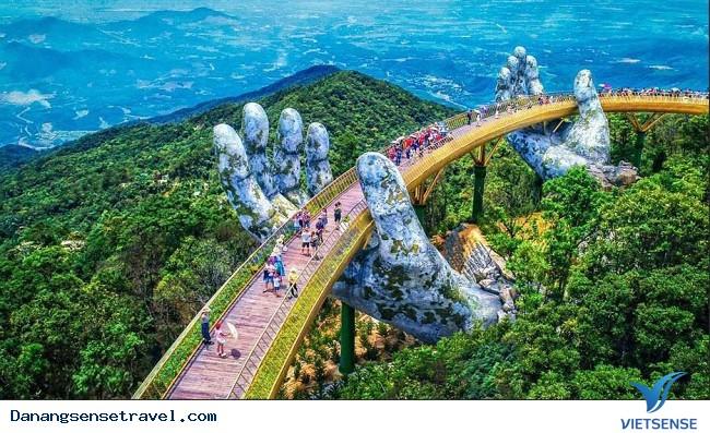 Địa Danh Du Lịch Đà Nẵng   Cây cầu bàn tay điểm check in hot nhất Đà Nẵng