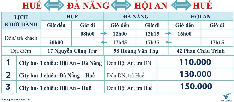 Xe Bus Liên Tuyến Huế Đà Nẵng Hội An Huế, Xe bus lien tuyen hue da nang hoi an hue